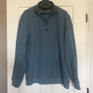 Men's 1/4 Zip Light Blue Pullover Sweater